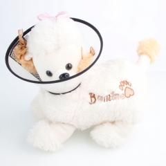 Dog E-Collar Elizabethan Wound Healing Cone Protection Collar 5# black one size