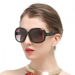 Oversized Womens Polarized Sunglasses Retro Style Vintage Eyewear (Black) Black 3113-Black