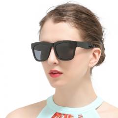 Fashion Square Vintage Women Polarized Sunglasses Retro Glasses black 964
