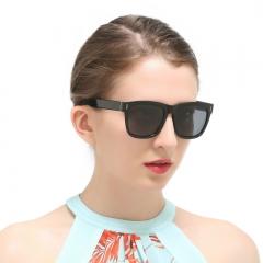 Fashion Square Vintage Women Polarized Sunglasses Retro Glasses black 8306