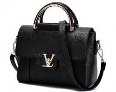 The new wave of single shoulder fashion handbag Messenger bag handbag small square bag black one size