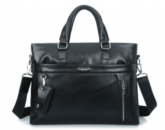 The new leisure fashion men 's handbag business vertical cross - section shoulder Messenger bag Black Cross section one size