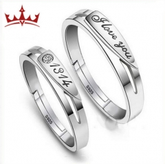 MR.S simple LOVE 1314  Rings for Men and Women lovers