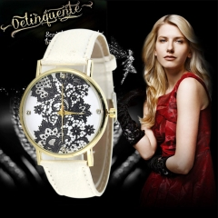 Geneva European fashion popular lace watches with watch box white one size