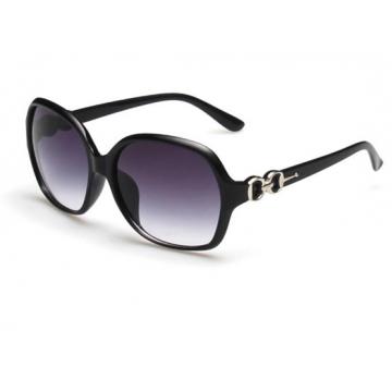 European  wind anti - ultraviolet retro sunglasses women 's big frame sunglasses with glasses box bright black one size