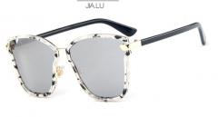 JIALU Colorful fashion trend frame retro sun sunglasses with glasses box white one size