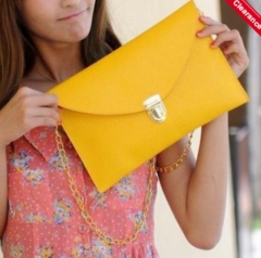 Women Sinple Shoulder Bag yellow one size