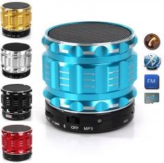 Portable Mini Bluetooth Speaker Wireless Speakers Stereo Small S28 Metal Subwoofer Sd Card KK0026 blue