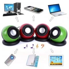 USB 2.0 System Power Wired Computer Speakers Mini Speaker Music Player for Desktop PC Laptops kk0032 green