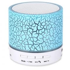 LED Mini Wireless Bluetooth Speaker USB FM Portable Sound Box Subwoofer Loudspeakers TF Card kk0034 green