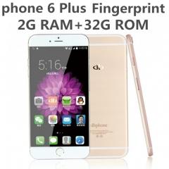 """Phone 6 PLUS 8-Cores Fingerprint 5.5"""" 2G RAM 32G ROM Android 5 Google Play Smart mobile KK0099 gray"""