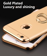 iphone 6 6s plus dbphone 6 plus case cover shell with a ring for mobile smart phone kk0113F gold 5.5inch