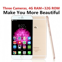 "DBPhone 4+32G Three 16MP++16MP+8MP Camera Fingerprint 5.5"" Android Google Play Smart mobile KK0114F black"