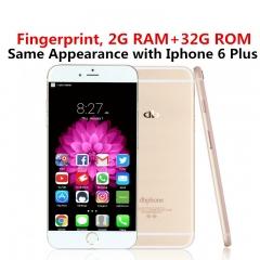 """DBPhone 2G RAM 32G ROM 13MP+5MP Camera Fingerprint  5.5"""" Android Google Play Smart mobile KK0088 gold"""