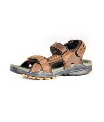 Rukana Simple Lightweight Rugged Outdoor NUBUCK Leather Sandals Men Shoes brown 9617-40