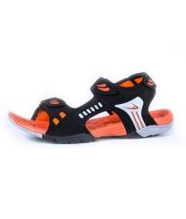 ADZA Active  Colorful Tough Rubber Sandals Men's Shoes Black/Orange AD-38-40
