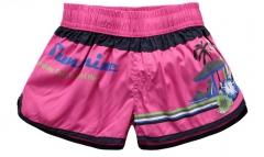 Women High Waist Floral Short Girl Casual Shorts Print Short Summer Beach Shorts Super Short pink x