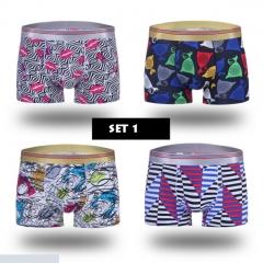 4 in 1 Men's Modal Boxer Breathabable Underwear Wholesale Sale SET 1 l