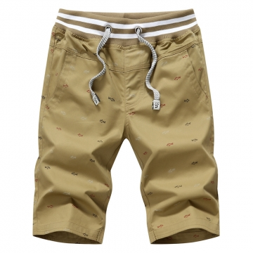 2017 Casual Men Shorts Beach Board Shorts Men's Shorts Summer cotton Brand Clothing tan m