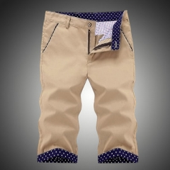Brand Men's Sportwear Shorts Summer Beach Short  Loose Casual Man Capris Pants dark blue 32