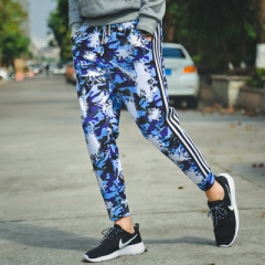 2017 Mens Jogger Autumn Pencil Pants Camouflage Military Pants Loose Comfortable Trousers Camo blue m