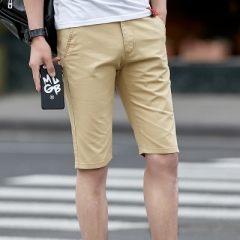 Clothing Summer Style Men Casual Cotton Short Pant Outside Trousers khaki 32