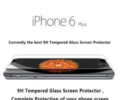 HM Mall Premium Real Tempered Glass Screen Protector Guard for Apple iPhone 6 plus/5.5.-inch transparent 5.5