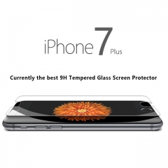 HM Mall Premium Real Tempered Glass Screen Protector Guard for Apple iPhone 7 plus/5.5.-inch transparent 5.5