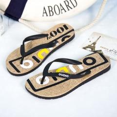 2016 Summer Flip Flops Men Casual Flats Shoes Men  Beach Sandals Slippers Summer For Male Sandals black 40