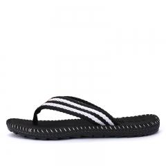 Summer Style Men Casual Non-slip Flip Flops Sport Beach Flat Slippers Wearproof Shoes Size 39-45 black 39