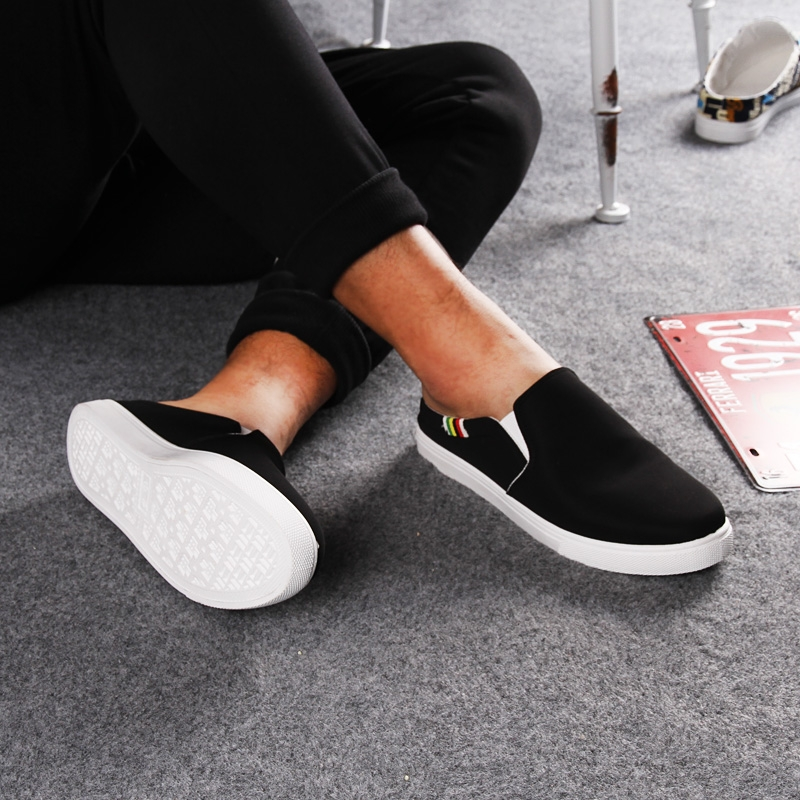 backless canvas slip on shoes summer flats loafer