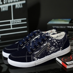 2017 Luxury Men Casual Shoes Handsome Good Quality Canvas Shoes Male New Arrival blue 40