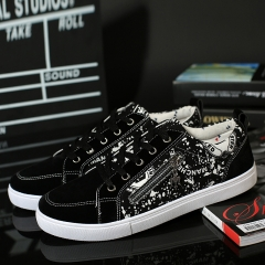 2017 Luxury Men Casual Shoes Handsome Good Quality Canvas Shoes Male New Arrival black 39