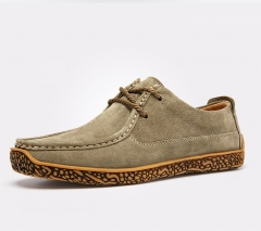 Mens Derby Shoes Suede Shoes Business Casual Shoes Height Increased Lace-Up Flats Suede Soft Outsole brown 39