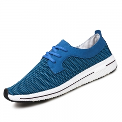 Spring Summer Men Casual Shoes Running Soft Mesh Shoes Male Hombre Hip Hop Sports Shoes blue 39