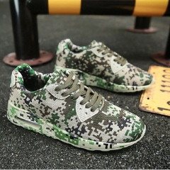 Spring Leisure Men Brand Sports Shoes Casual Shoes Camouflage Mens Trainers Breathable Shoes green 39