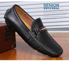 2017 New Summer Men Loafers Genuine Leather Large Size Men Driving Shoes US Big Size 45 46 black 39