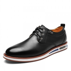 New Spring Fashion Oxford Business Men Shoes Soft Casual Breathable Men's Flats black 39