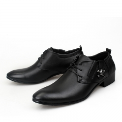 Mens Leather Lace-Up Dress Business Office Shoes Man Skull Casual Flats Men's Driving Party Oxfords black 39