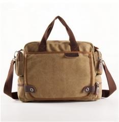 high quality Men's canvas bag fashion single shoulder bag Men's casual bags one size khaki one size