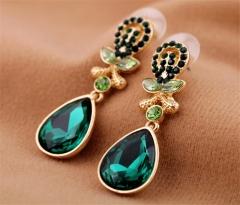 lady's earrings big long water drop earrings for women and girls alloy earrings one size two color green one size