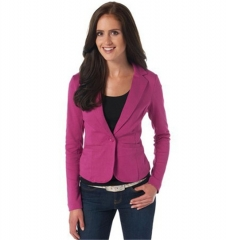 Candy-colored casual women's suit business formal slim long sleeve one button five colors five size rose red L
