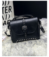 hot selling new style women handbags single shoulder rivet package five colors black one size