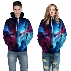 thick 3D printed hoodies for women and men fleece leisure style a S/M