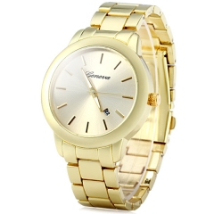 New Coming High-Polished Bracelet Clean Style Dial Quartz Watch Metal Watch Geneva Watch gold