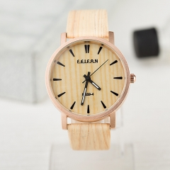 Watches Men's Watches With Wood Leather Watch Band black one size