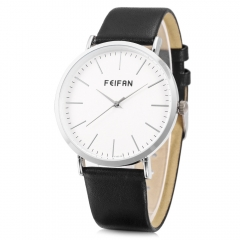 Unisex Feifan Contracted fashion  Watch Quartz watch Leather Band Vintage black one size