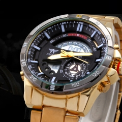 Men's AMST Multifunctional Dual Movt LED Sports Watch gold one size