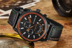 Curren Quartz Watch Top Brand Luxury Leather Mens Watches Fashion Casual Sport Clock Wristwatches black one size