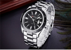 NEW curren watches men Top Brand fashion quartz watch male Army sports Analog Casual 8110 silver black one size